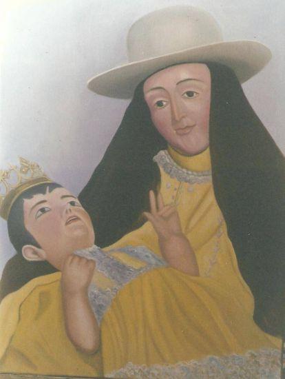 IMAGEN DE LA EXCELSA PATRONA DE LOS BARQUISIMETANOS, DIVINA PASTORA. Oil Canvas Portrait