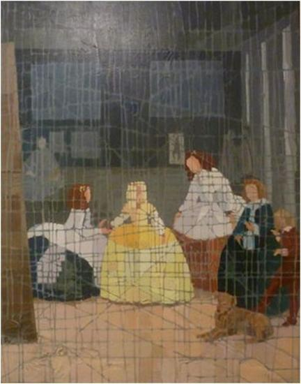Homenaje a Velazquez Lienzo De vidriera Figura