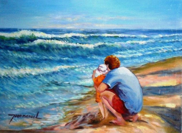 Mi mar, nuestro mar Canvas Oil Marine Painting