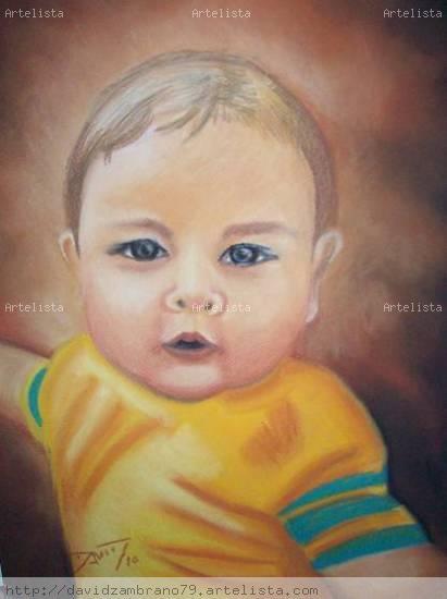 En Nene Pastel Papel Retrato