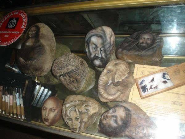 Pintura en Piedras Acrílico Otros Retrato