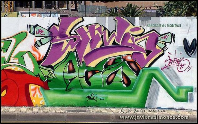 GRAFFITIS 004 Conceptual/Abstracto Color (Digital)