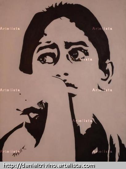 Esperanza Tabla Acrílico Retrato