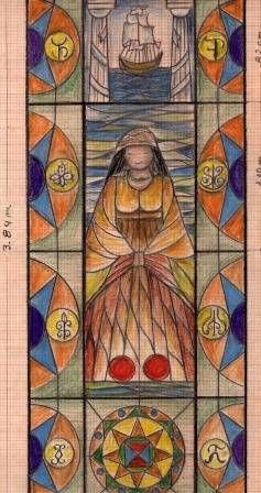 diseño para vitraL Princesa Zulia