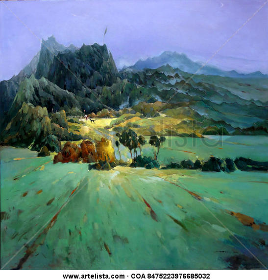 Light from Chinese rural village 253 Paisaje Óleo Lienzo
