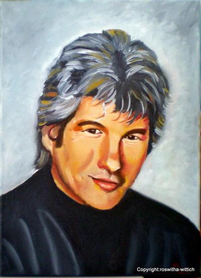Richard Lienzo Óleo Retrato