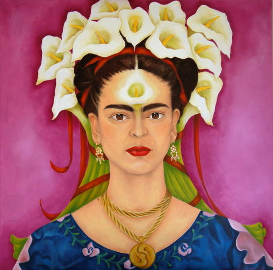 Frida con Alcatraces Oil Canvas Others