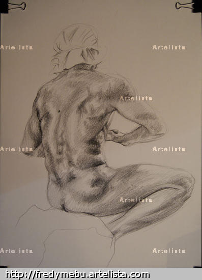 Raúl Paper Graphite Nude Paintings