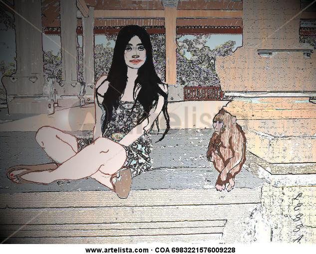 La niña y el babuino