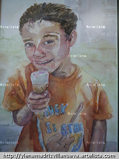 Bajo el Sol Portrait Glass Watercolour