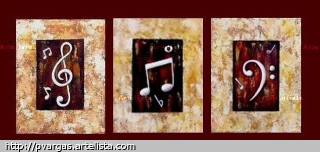 Notas Musicales Canvas Others Acrylic