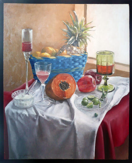 Bodegón sobre funda de almohada Oil Canvas Still Life Paintings