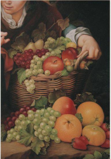 Bodegón en La vendedora de frutas Óleo Lienzo Bodegones