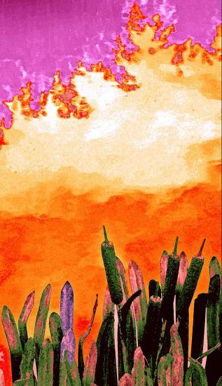 Flores metálicas en el Jardín de Jardines Conceptual/Abstracto Color (Digital)