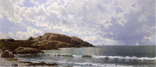 MARINA ALFRED BRICHER Lienzo Óleo Marina