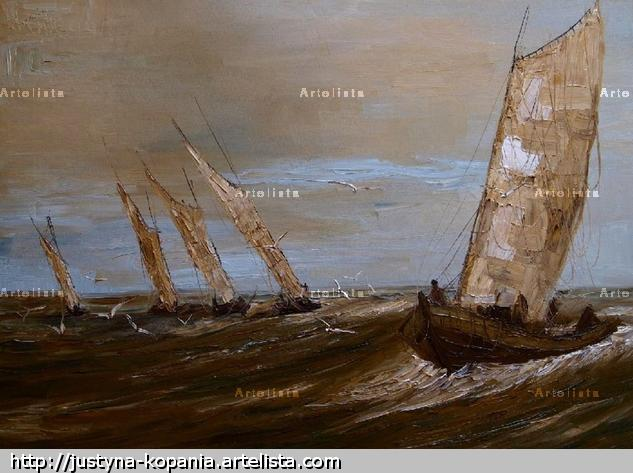 In the Baltic... Canvas Oil Marine Painting