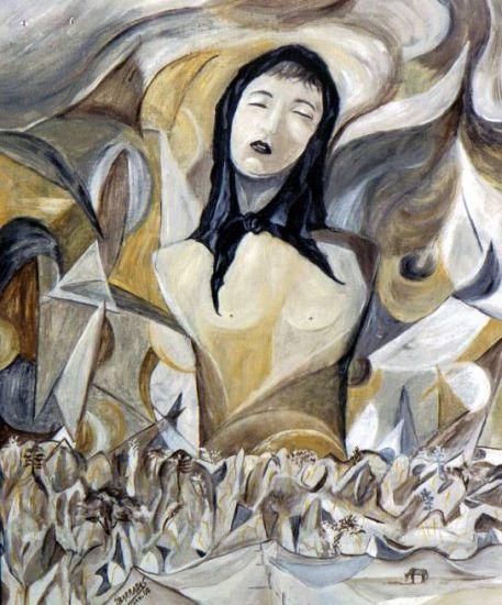 Catarina Eufémia Óleo Lienzo Figura