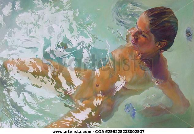 mujer en la bañera