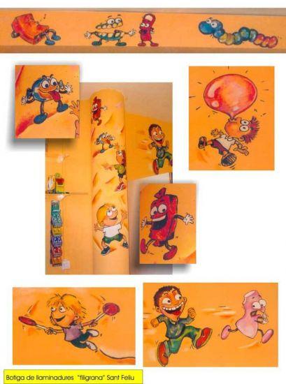 pintura mural tienda de caramelos