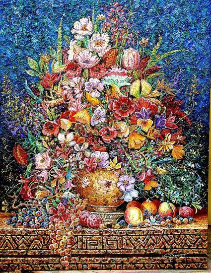GRAN BOUQUET DE FLORES Oil Floral Painting Canvas