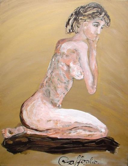 Pensando en vos Nude Paintings Industrial Canvas