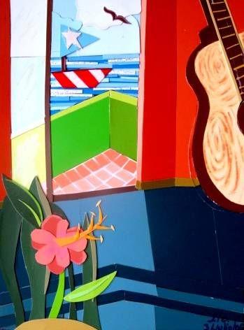 Guitarra Otros Lienzo Paisaje