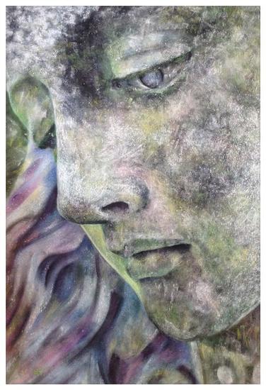 Virgen de piedra Papel Pastel Figura