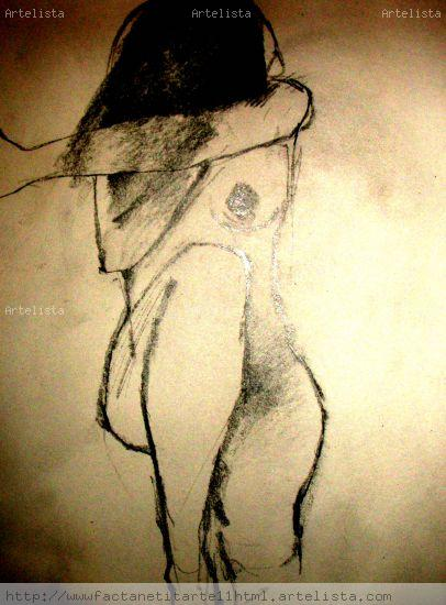 el silencio de un passeo Mixed media Card Nude Paintings