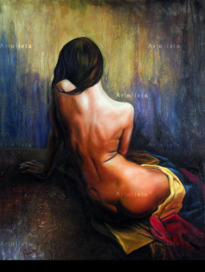 Esperanza Canvas Nude Paintings Oil