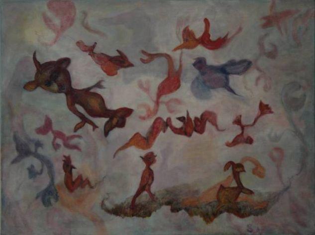 Mutantes II Canvas Oil Figure Painting
