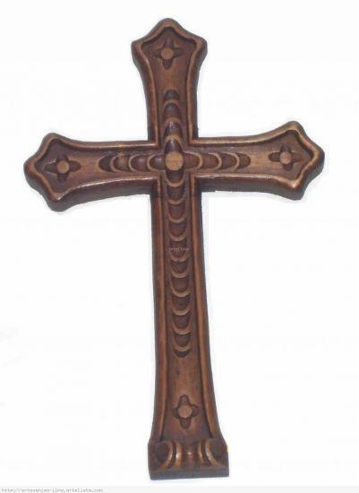 Cruz Tallada en madera cedro Madera Figurativa