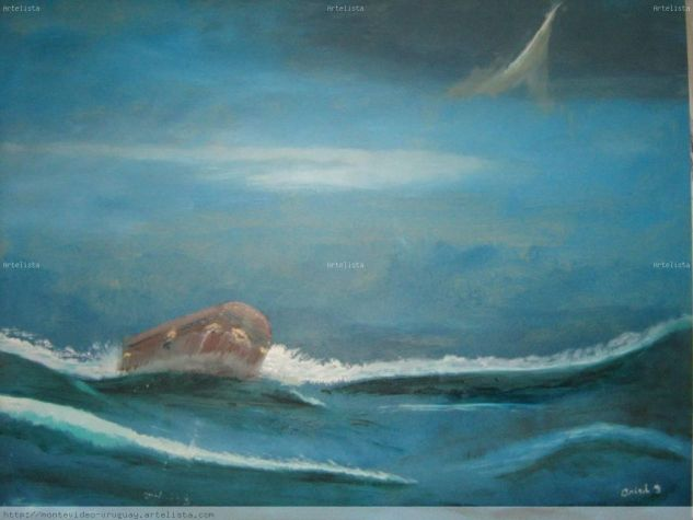 tormenta marina Oil Card Marine Painting