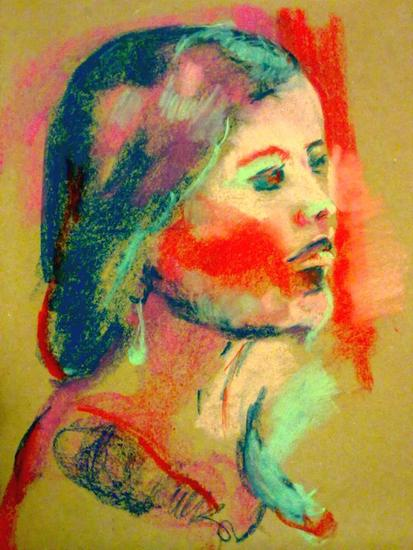 Cara de color. Panel Portrait Pastel