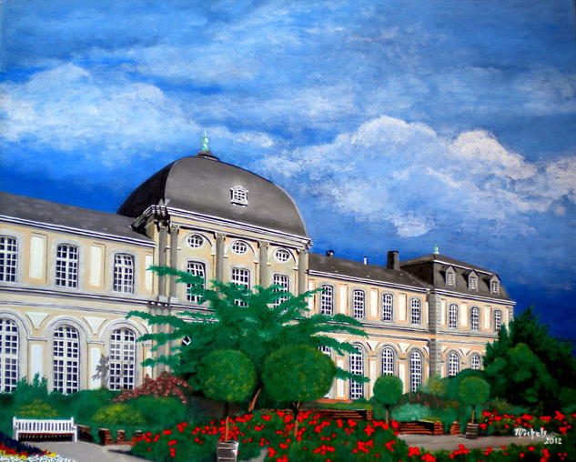 Poppelsdorfer Schloss Lienzo Acrílico Paisaje