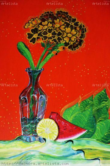 El vaso azul Acrylic Canvas Still Life Paintings