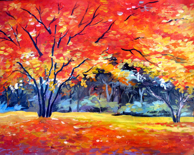Season Beauty Canvas Landscaping Acrylic