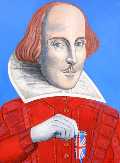 William Shakespeare Oil Canvas Portrait