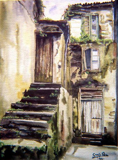Escaleras en betanzos francisco garc a rey - Cuadros para subida escaleras ...