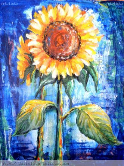 girasoles Acrylic Others Floral Painting