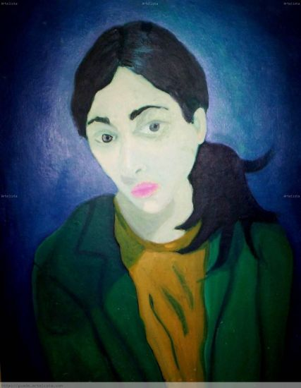 autorretrato Óleo Tabla Retrato