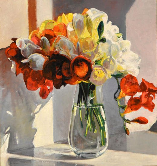 Luces y flores Floral Óleo Tabla