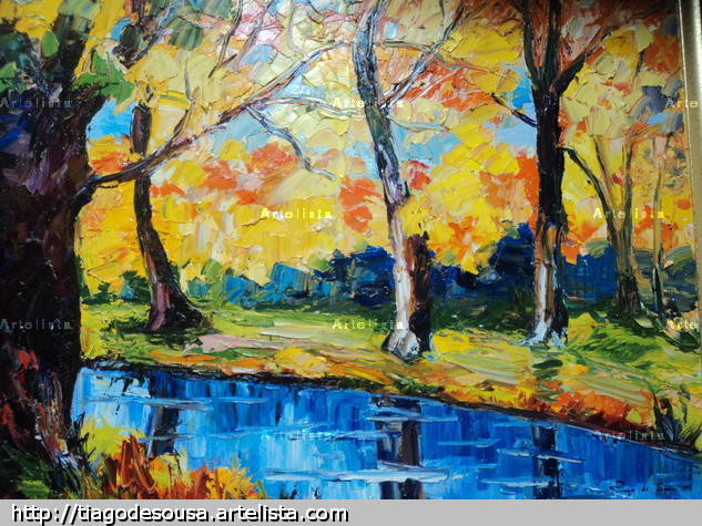 Laguna Canvas Oil Landscaping