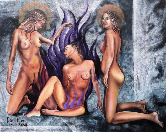 Asuncion Canvas Oil Nude Paintings