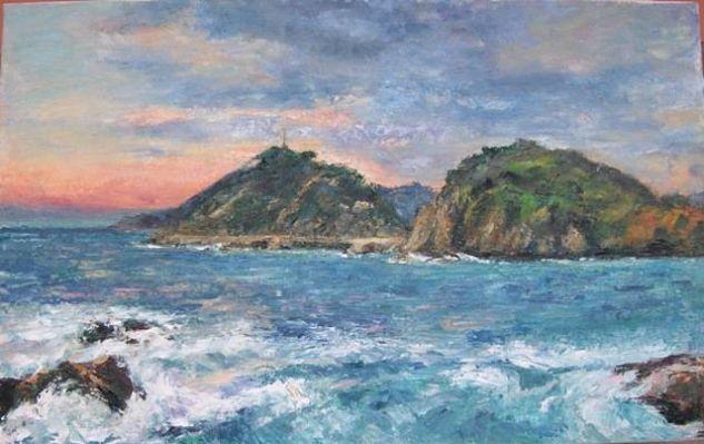 Santa Clara y monte Urgull Lienzo Marina Óleo