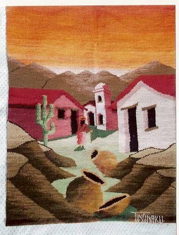 tapices en telar del norte argentino Tapices Textil