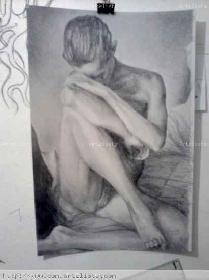 Dibujo sobre papel Óleo Lienzo Desnudos