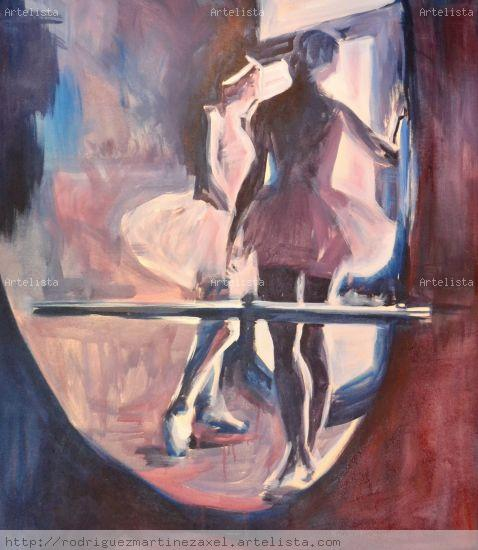 Ballet Canvas Acrylic Figure Painting