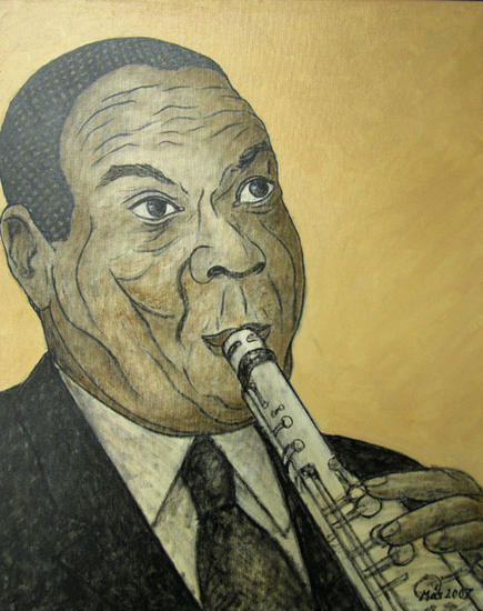 Sidney Bechet Oil Canvas Portrait