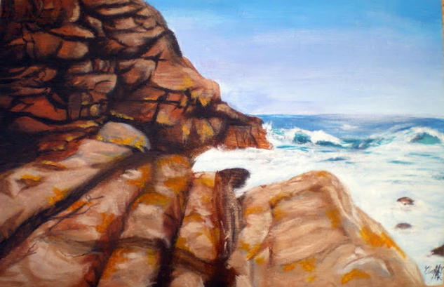 Rocas Panel Acrylic Marine Painting