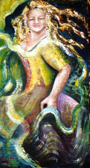 Life dance. Oil Canvas Others